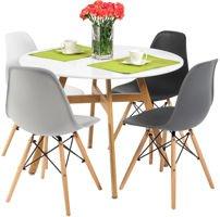 Zestaw mebli do jadalni okrągły stół BOLONIA i 4 krzesła MEDIOLAN