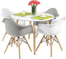 Zestaw mebli do jadalni stół okrągły MEDIOLAN i 4 krzesła FLORENCJA