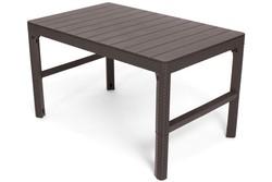 Stół ogrodowy LYON z regulacją wysokości - brązowy
