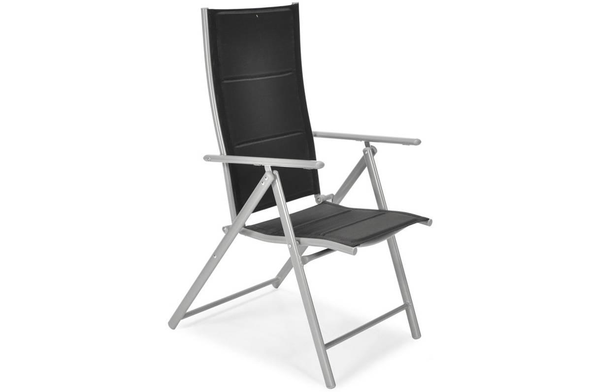 Meble Ogrodowe Składane Aluminiowe Modena Stół I 6 Krzeseł Czarne