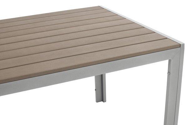 Duży 8 osobowy zestaw mebli ogrodowych MODENA MAX - Srebrny