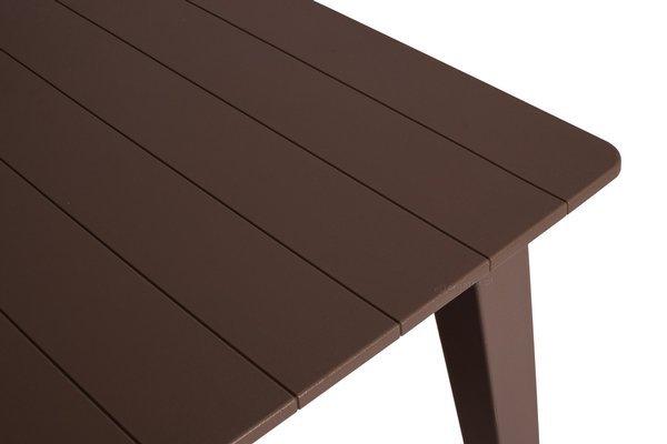 Duży stół ogrodowy dla 6 osób LIMA 160 cm - brązowy