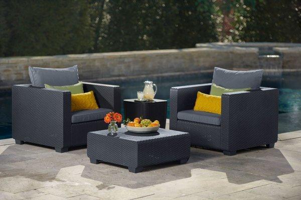 Fotel ogrodowy SALTA - grafitowy