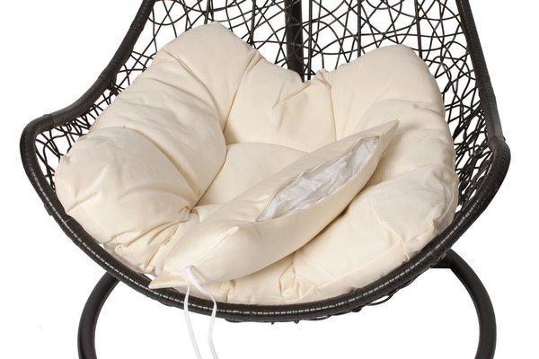 Fotel wiszący hamak kokon SOLANO - czarny