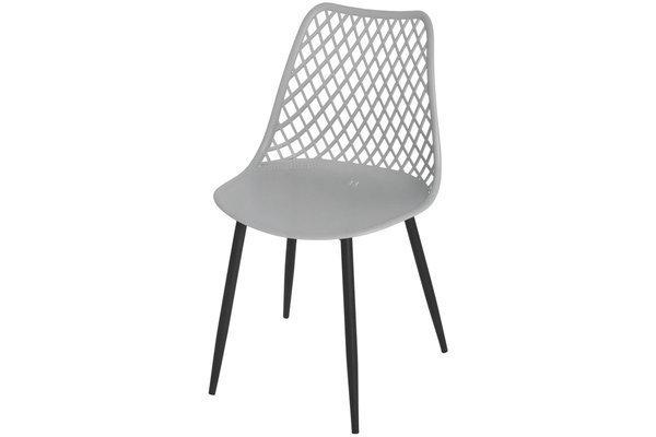 Krzesło ażurowe do jadalni SIENA - szare