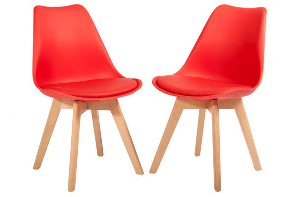 Krzesło do jadalni BOLONIA czerwone - 4 szt.