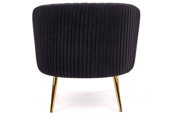 Krzesło fotel do salonu CROWN Gold - czarny