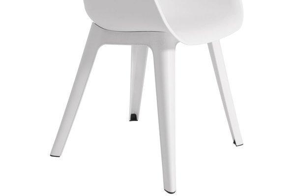 Krzesło ogrodowe AKOLA - białe