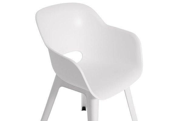 Krzesło ogrodowe do jadalni AKOLA - białe