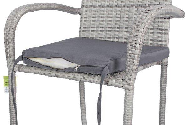 Krzesło ogrodowe z technorattanu MALAGA - szare