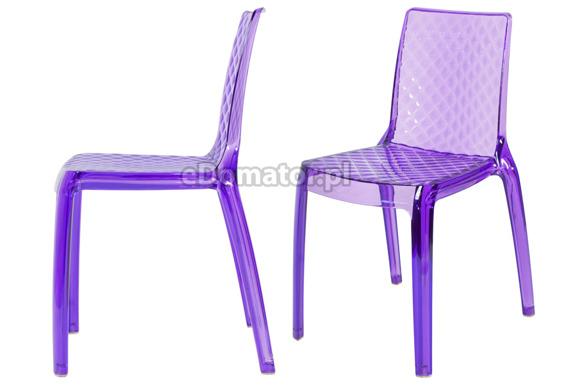 Krzesło plastikowe CARMEN - fioletowe