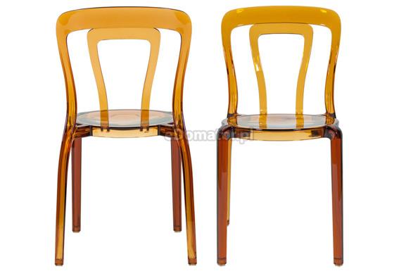 Krzesło plastikowe IRIS - brązowe