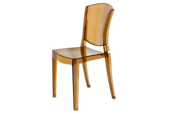 Krzesło plastikowe LOTUS - brązowe
