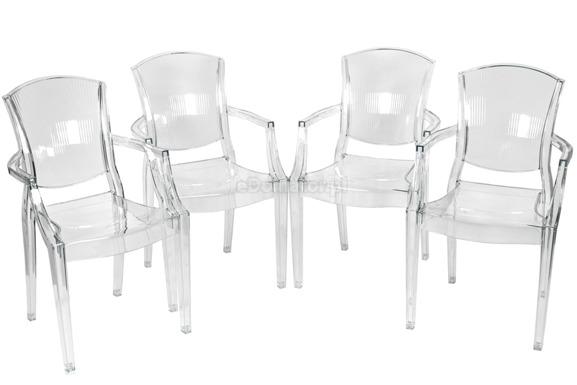 Krzesło plastikowe PEONY - bezbarwne