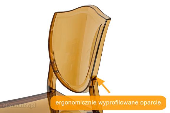 Krzesło plastikowe PRINCESS - brązowe