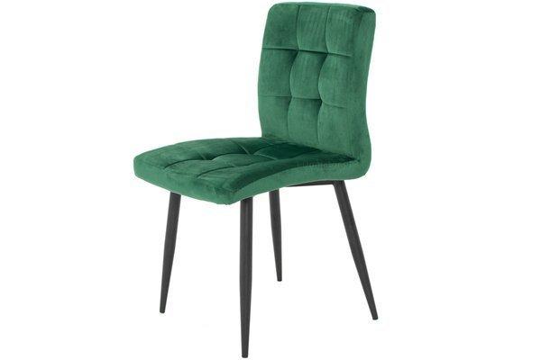 Krzesło tapicerowane glamour DIANA - zieleń butelkowa