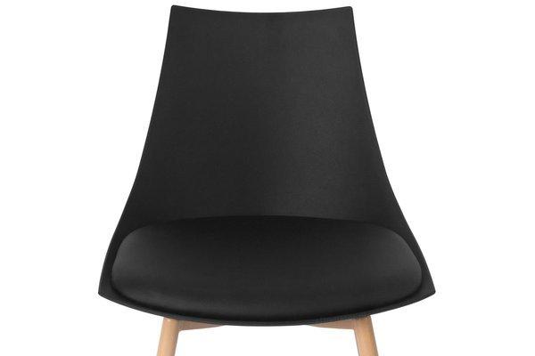 Krzesło z poduszką do kuchni jadalni SARA - czarne