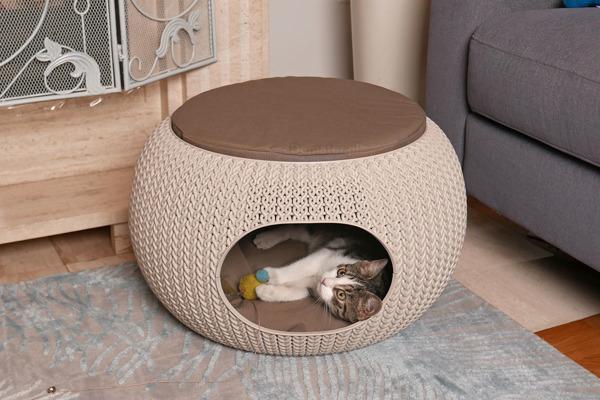 Legowisko domek dla zwierząt CURVER KNIT 56,7 x 56,7 x 32,9 cm