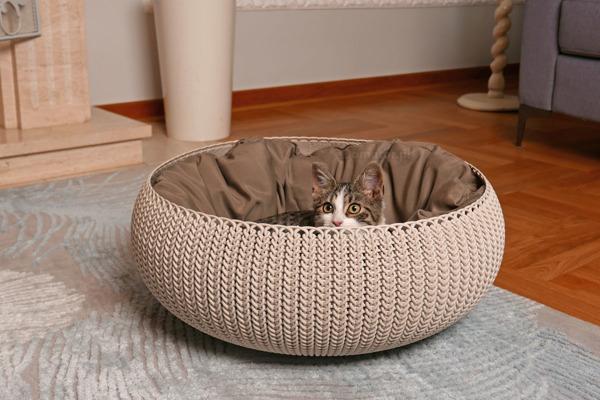 Łóżko dla zwierząt CURVER KNIT 54 x 54 x 20 cm