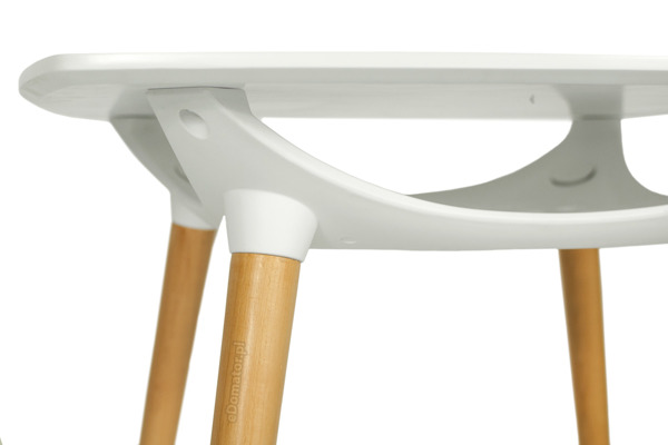Nowoczesny biały stół MEDIOLAN 80x80