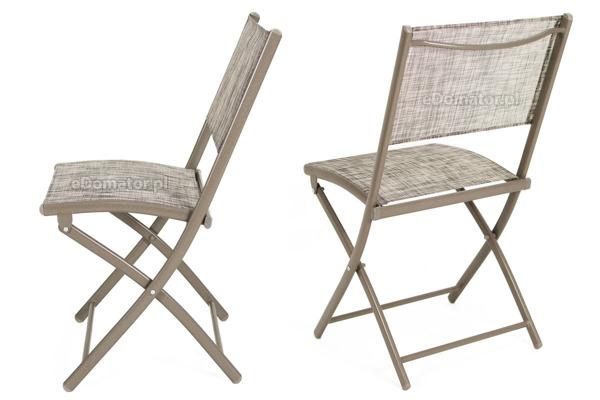OUTLET - Krzesła ogrodowe balkonowe składane - 2 szt.