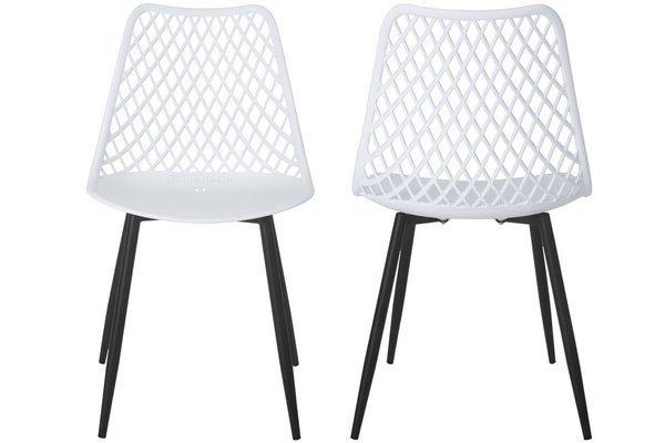 OUTLET - Krzesło ażurowe SIENA - białe