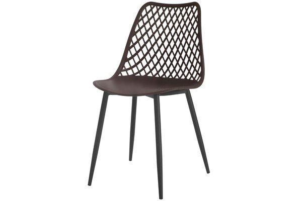 OUTLET - Krzesło ażurowe SIENA - brązowe