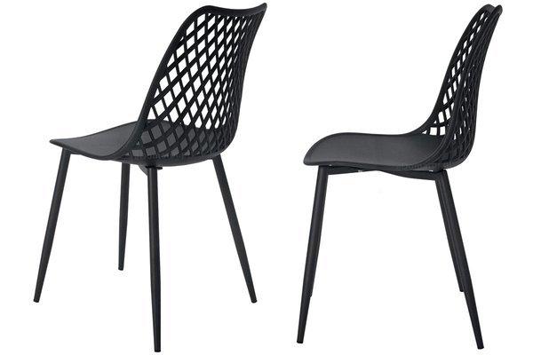 OUTLET - Krzesło ażurowe SIENA - czarne