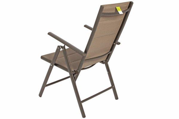 OUTLET - Krzesło ogrodowe MODENA  - Brązowe