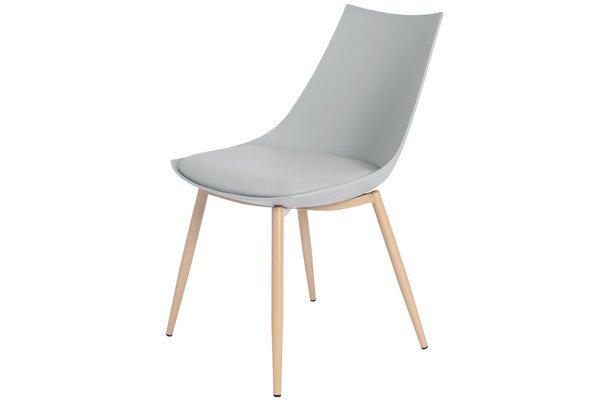 OUTLET - Krzesło z poduszką SARA - szare