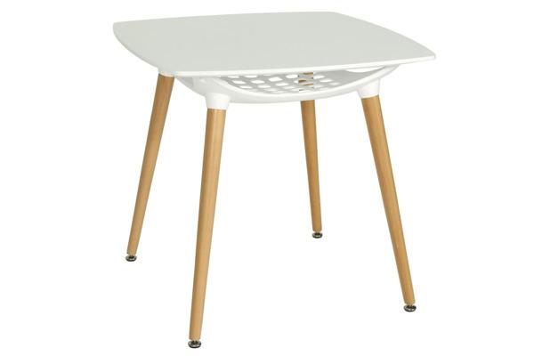 OUTLET - Nowoczesny biały stół MEDIOLAN 80x80