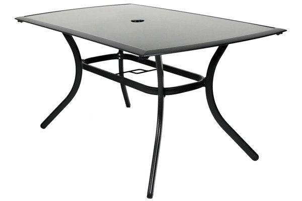 OUTLET - Stół ogrodowy VEGAS szklany blat - czarny