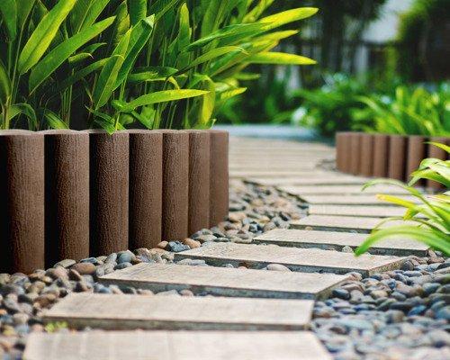 Palisada ogrodowa 4 STANDARD 2,3 m - brązowa