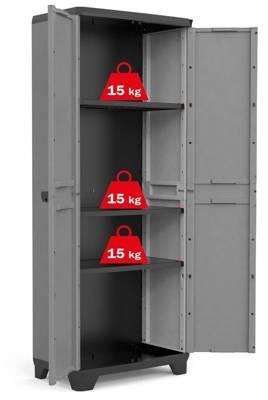 Plastikowa szafa z półkami na narzędzia KETER KIS STILO high