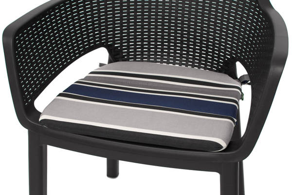 Poduszka na krzesło ogrodowe EVA 43x41 cm - PASY granat