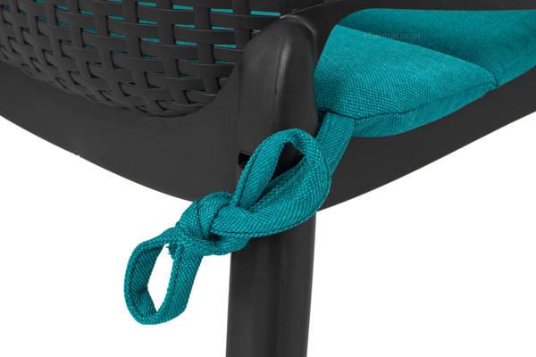 Poduszka na krzesło ogrodowe EVA 43x41 cm - turkusowa