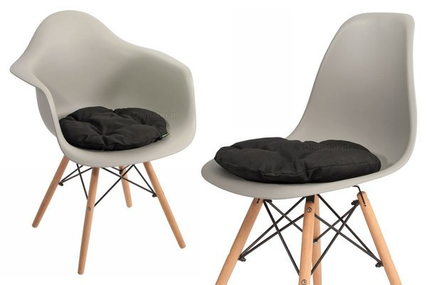 Poduszka okrągła na krzesło OFELIA 36 cm - czarna