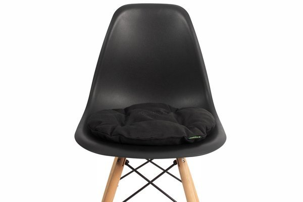 Poduszka okrągła na krzesło OFELIA 40 cm - czarna