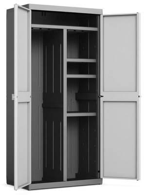 Pojemna szafa narzędziowa KETER KIS LOGICO UTILITY XL czarno-szara