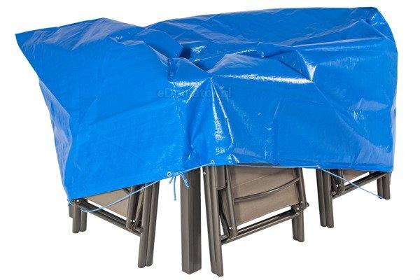 Pokrowiec na meble ogrodowe 170 x 110 x 90 cm - niebieski