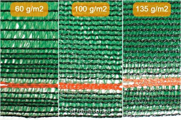 Siatka cieniująca 1,25x50m 100 g/m2 60% UV Zielona