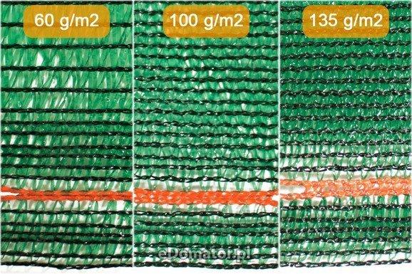 Siatka maskująca cieniująca 1,20x25m 60% UV +opaski