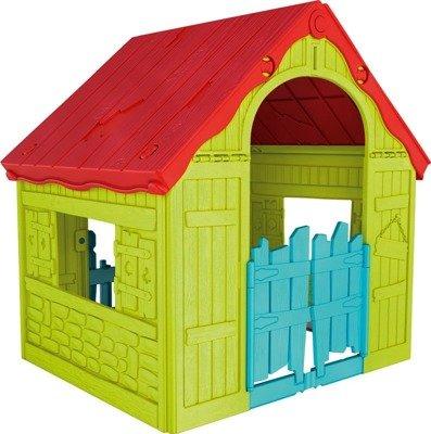 Składany domek FOLDABLE PLAY HOUSE (WONDERFOLD) - czerwono-zielono-niebieski