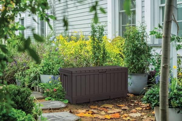 Skrzynia ogrodowa KENTWOOD 350 l - brązowa