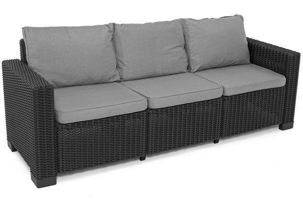 Sofa ogrodowa CALIFORNIA 3-osobowa - grafit