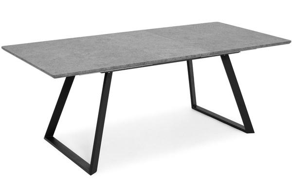 Stół PORTLAND (200/160x90) i 8 krzeseł DIANA - komplet mebli do salonu - szaro-zielony