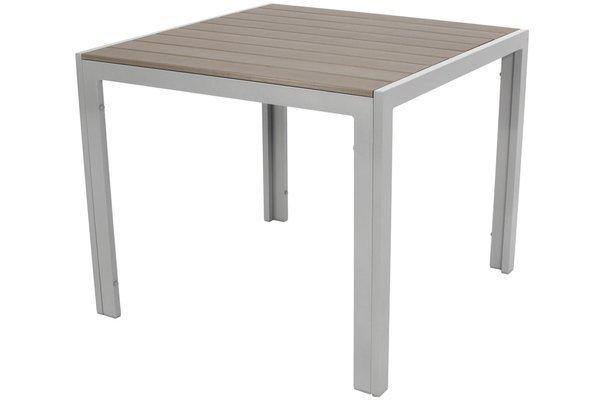 Stół ogrodowy aluminiowy MODENA 90 - Srebrny