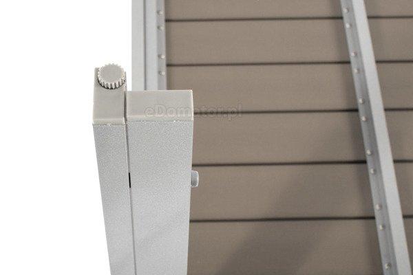 Stół ogrodowy aluminiowy MODENA  - Srebrny