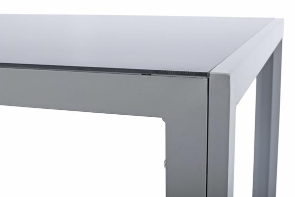 Stół ogrodowy aluminiowy WENECJA 150 x 90 cm - srebrny