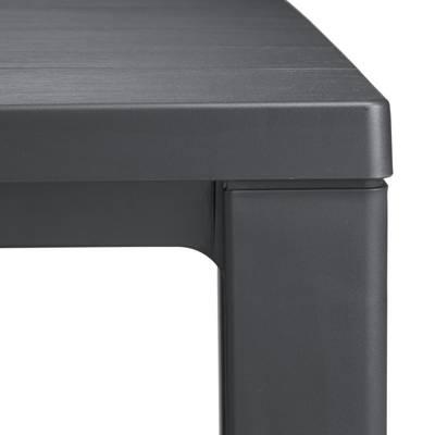 Stół ogrodowy plastikowy JULIE - grafitowy